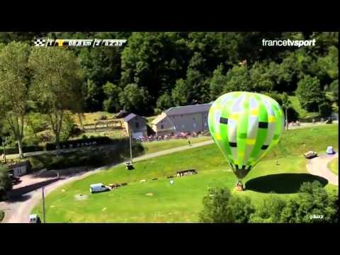 animation montgolfière Tour de France cycliste