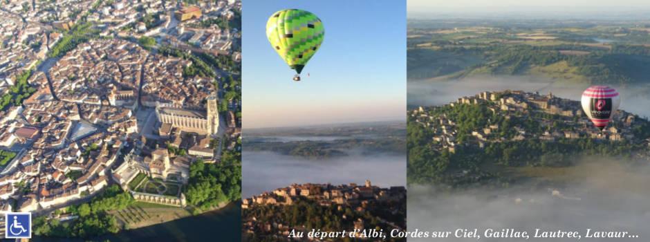 Le Tarn en montgolfière vu du ciel