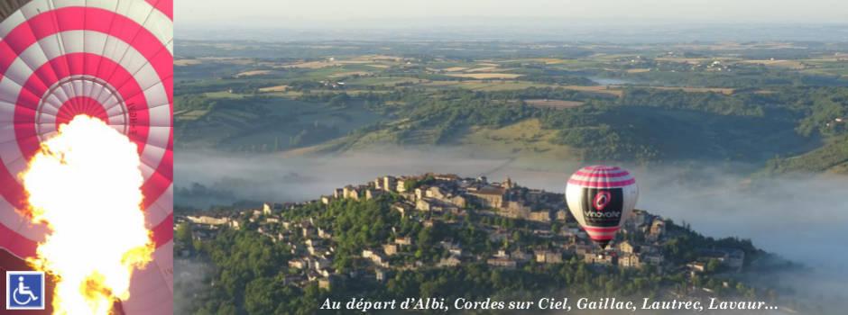 Vol en montgolfière Cordes sur Ciel au gré du vent