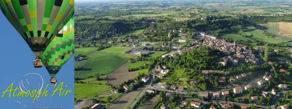 Le Tarn et Lautrec vu en montgolfière