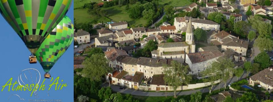 Le Tarn et Cestayrol en montgolfière