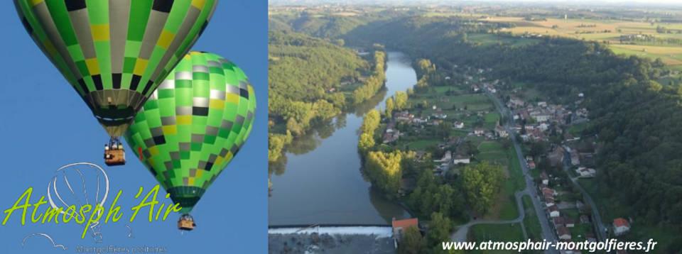 Le Tarn et les Avalats entre Saint Juery et Ambialet en montgolfière