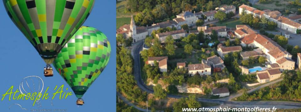 Villeneuve sur Vère en montgolfière