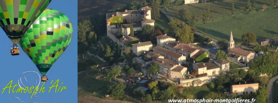 Château de Mauriac et Salette en montgolfière