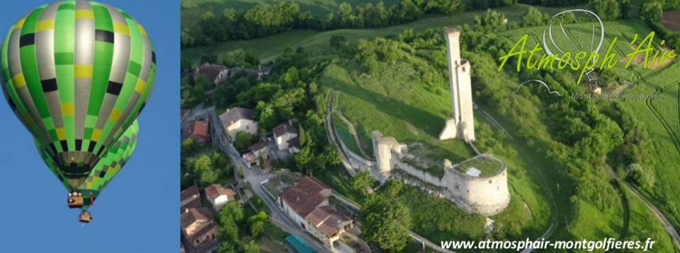 Le Tarn et Castelnau de Levis en montgolfière