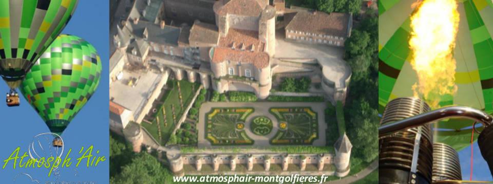 Le Jardin du Palais de la Berbie à Albi vu du ciel en montgolfière