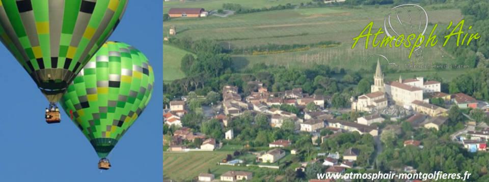 Le Tarn et Florentin en montgolfière