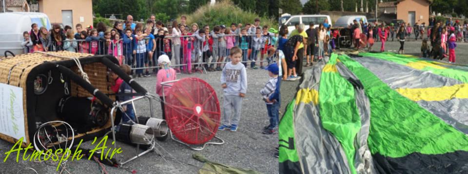 Ecole maternelle et primaire découverte de la montgolfière