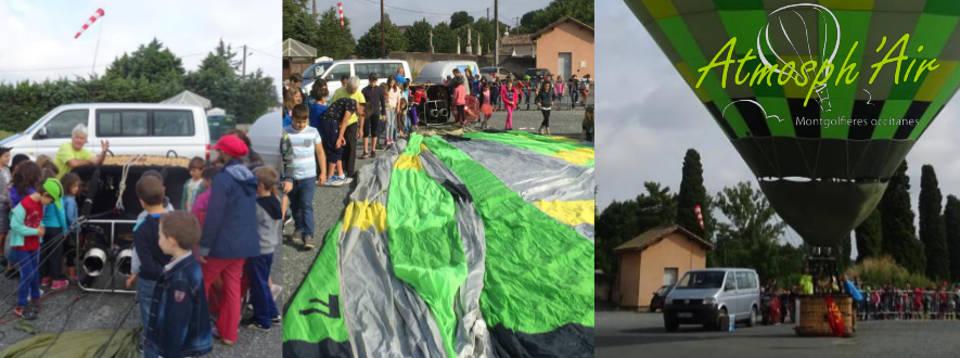 Atelier pédagogique sur l'air et le vent et la montgolfière