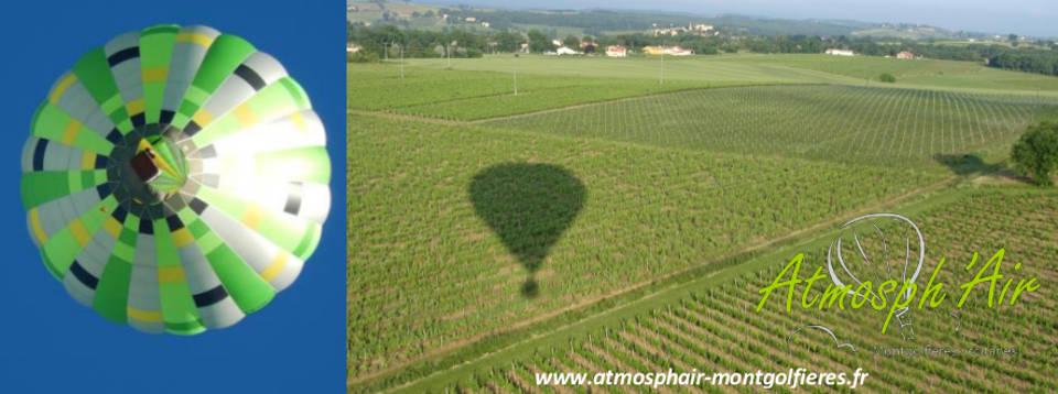 Vol en montgolfière dans les vignes du Tarn