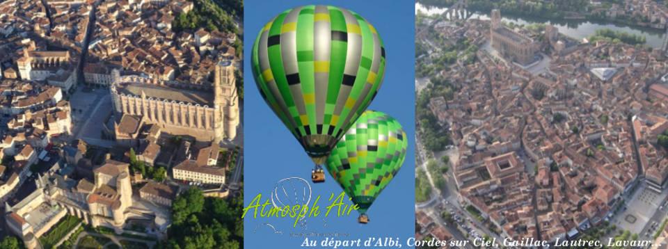 Albi et La Cité Épiscopale vu en montgolfière