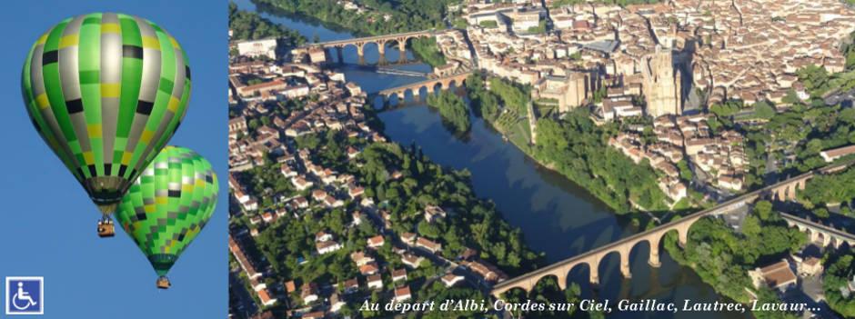 Au dessus du Tarn et Albi en montgolfière