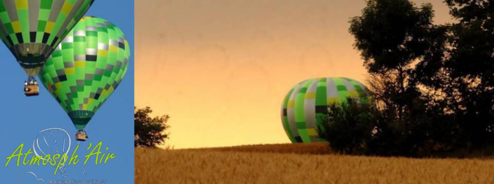 Coucher de soleil en montgolfière dans le Tarn