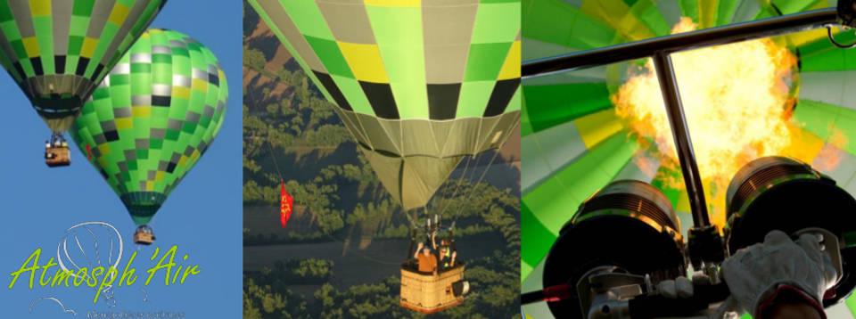 Brûleur et flamme montgolfière Tarn