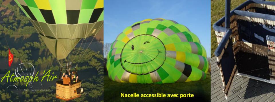 montgolfière avec porte dans le Tarn