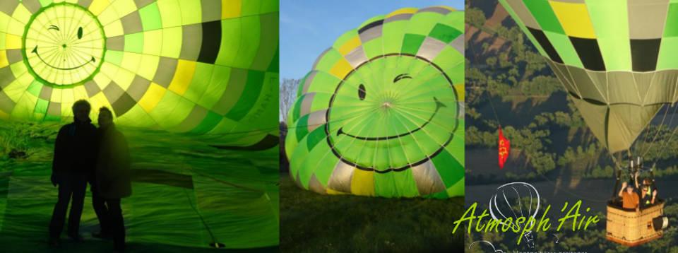 Avant le vol en montgolfière dans le Tarn
