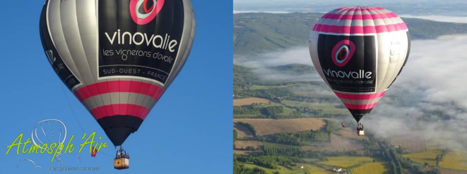 montgolfière Vinovalie dans le vignoble de Cahors