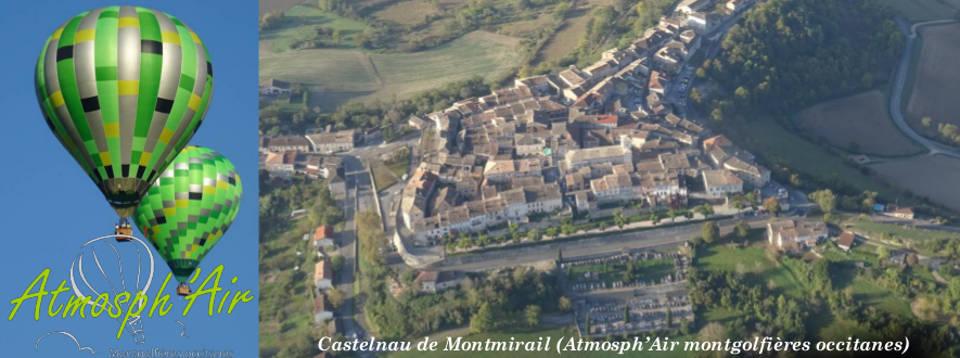 Castelnau de Montmirail en montgolfière