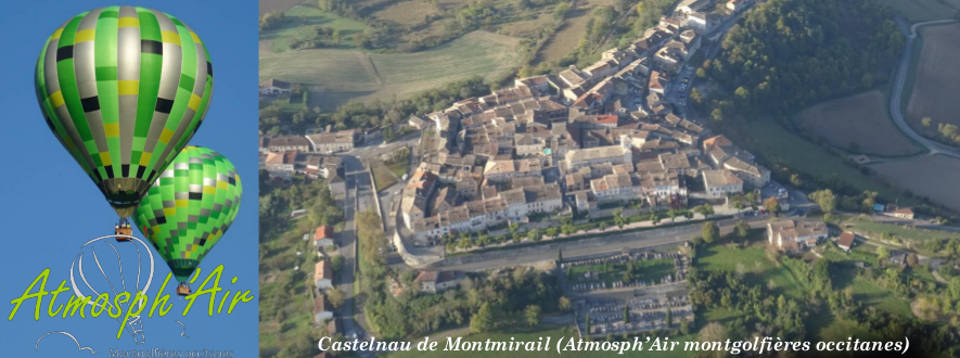 Le Tarn et Castelnau de Montmirail en montgolfière