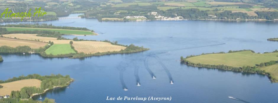 Le lac de Pareloup en montgolfière Aveyron