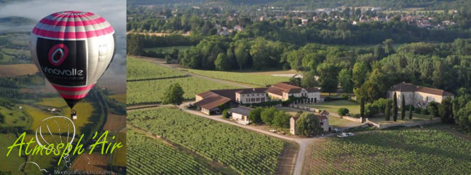 Chateau les Bouysses En montgolfière Vinovalie
