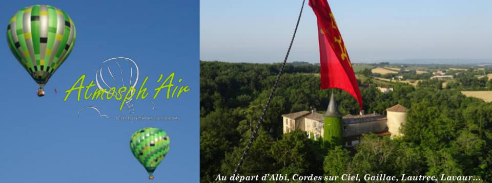 Survol en montgolfière des château sur Lautrec dans le Tarn