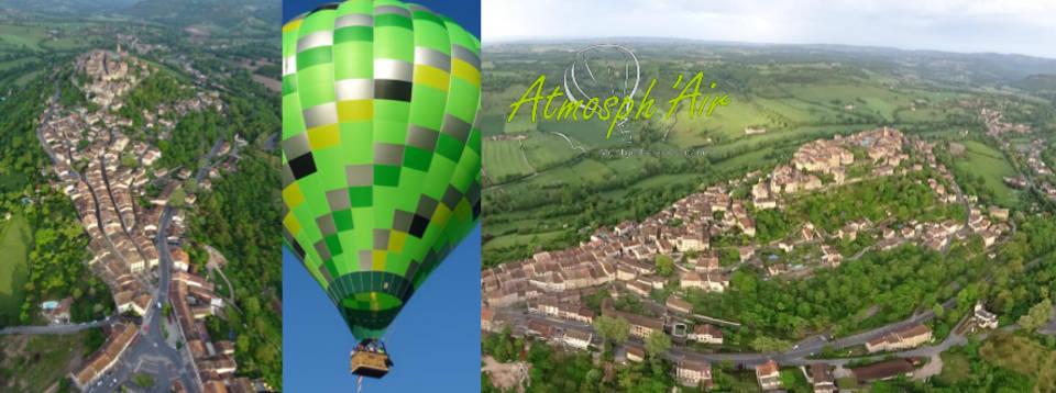 Visite de Cordes sur Ciel en montgolfière à air chaud