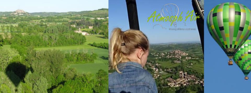 Cordes sur Ciel - Les Cabannes - Vindrac - Vaour - en montgolfière