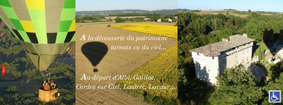 Montgolfière dans le Tarn et l'Aveyron