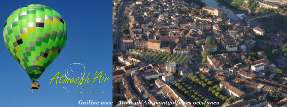 L'Abbaye Saint Michel et Gaillac en montgolfière