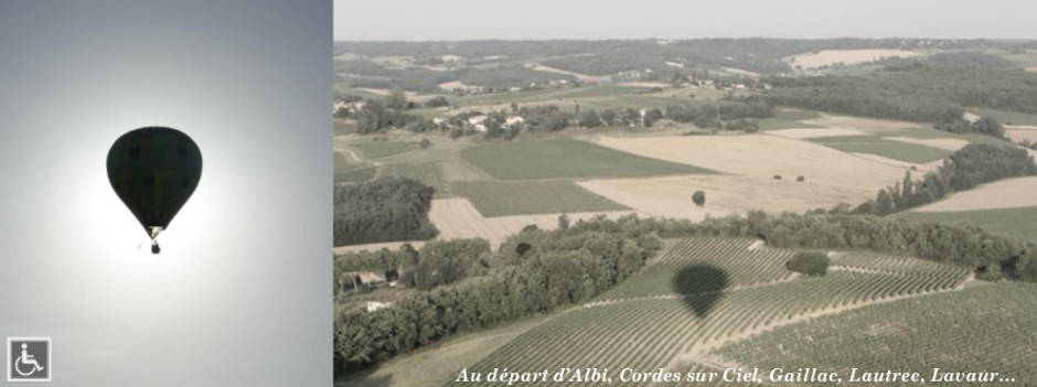 Survol du vignoble de Gaillac en montgolfière