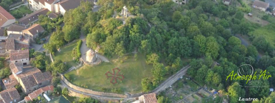 Moulin de Lautrec en montgolfière