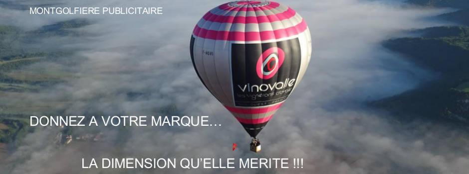 montgolfière publicitaire Gaillac Vinovalie