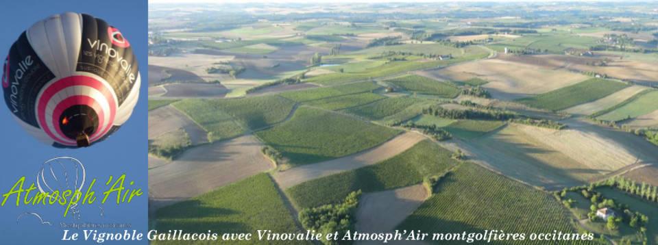 montgolfière Vinovalie dans le vignoble de Gaillac
