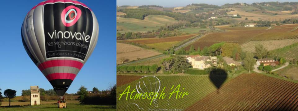 La montgolfière Vinovalie dans le vignoble de Lisle sur Tarn