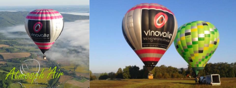 décolage montgolfière Vinovalie dans le Tarn la haute garonne