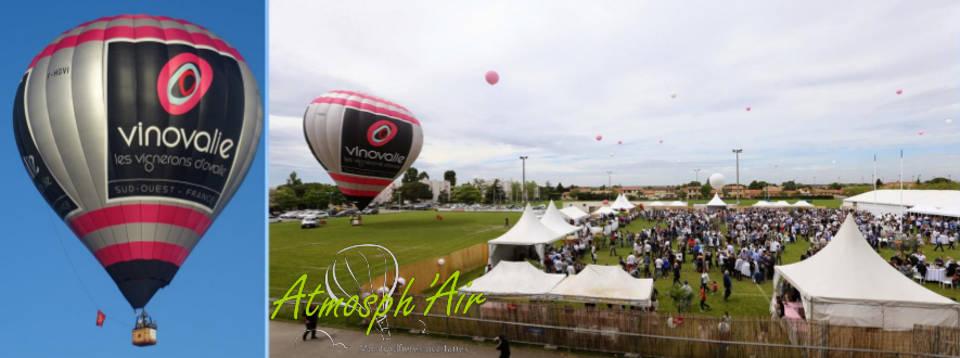 Montgolfière Vinovalie à la Garden Party du Colomiers Rugby