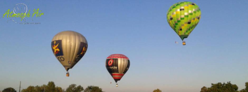 3 montgolfières avec Vinovalie à Toulouse