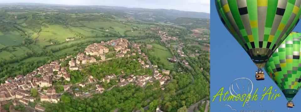 Décollage en montgolfière de Puycelsi Penne Bruniquel