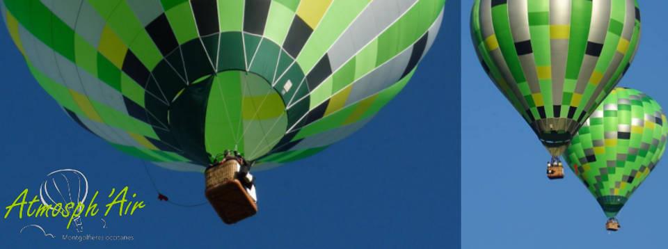 Envol d'une montgolfière dans le Tarn