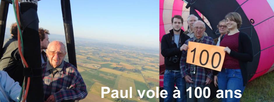 Paul 100 ans en montgolfière