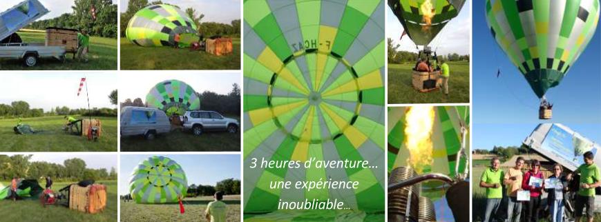 déroulement d'un vol en montgolfière