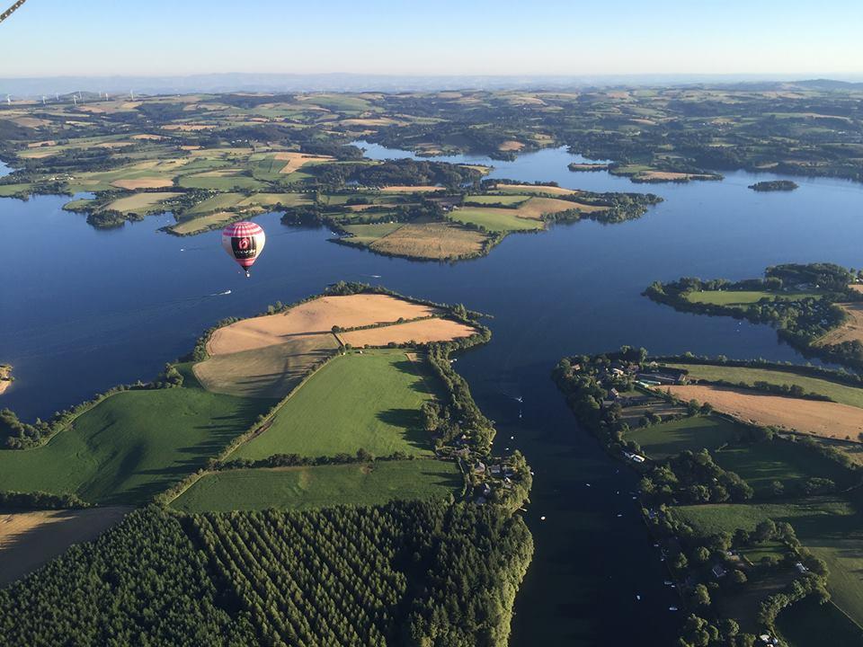 Montgolfière Aveyron Lac de Pareloup