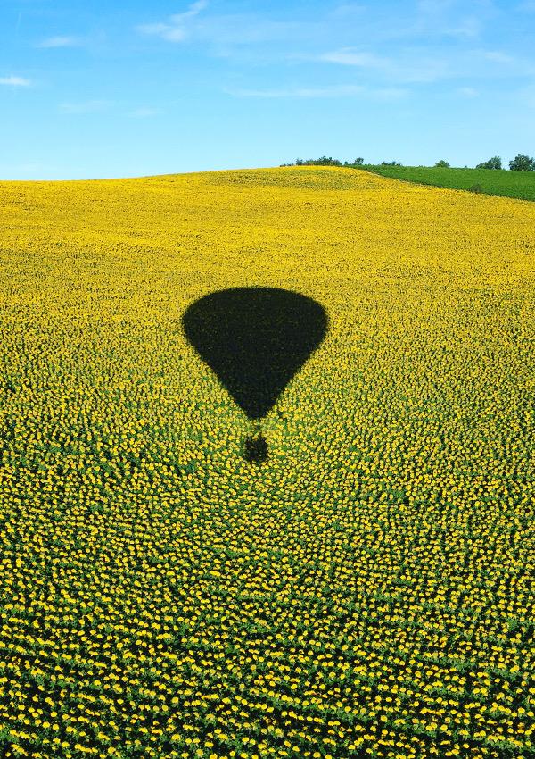 Campagne du Tarn avec Atmosph'Air montgolfières