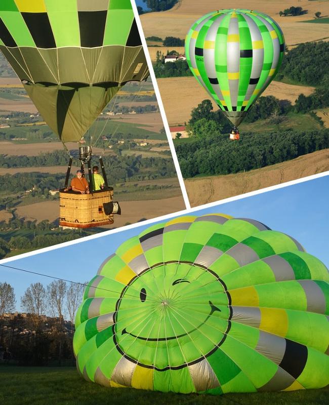Fête des pères en montgolfière sur Toulouse