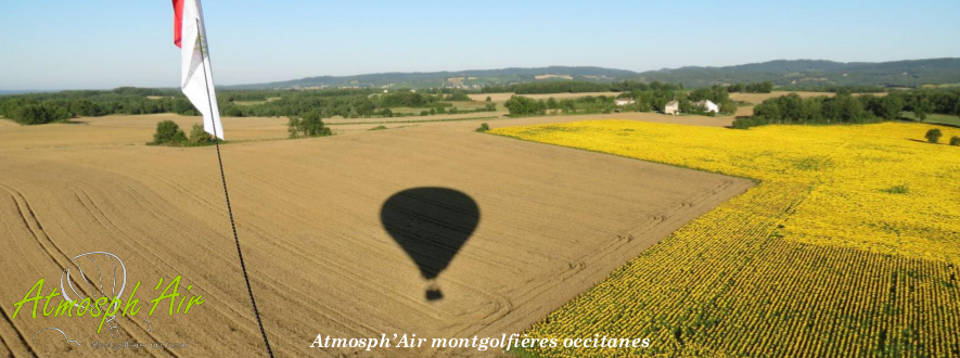 Mariage amoureux en montgolfière à proximité de Toulouse