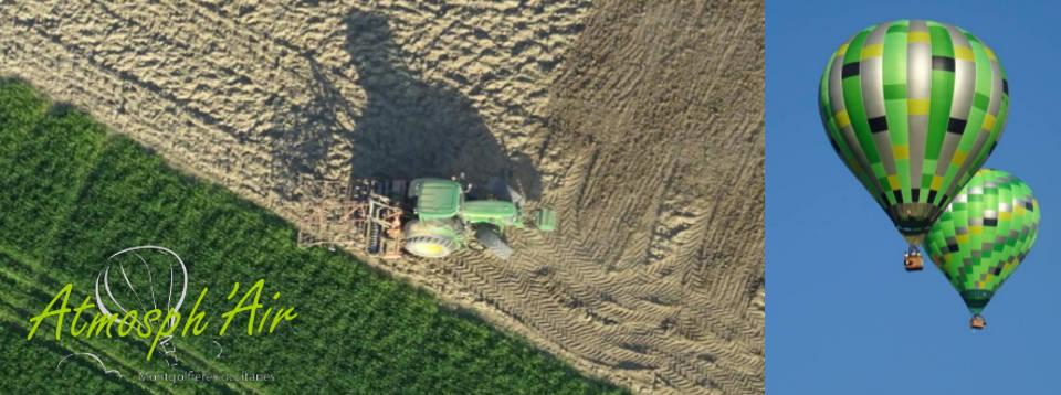 Préparation du terrain pour cultiver l'Ail Rose de Lautrec vu en montgolfière